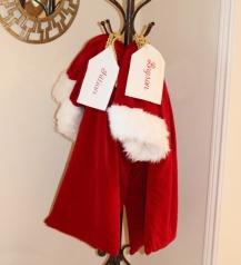 Homemade Santa Bags ; Frontgate has a similar one.