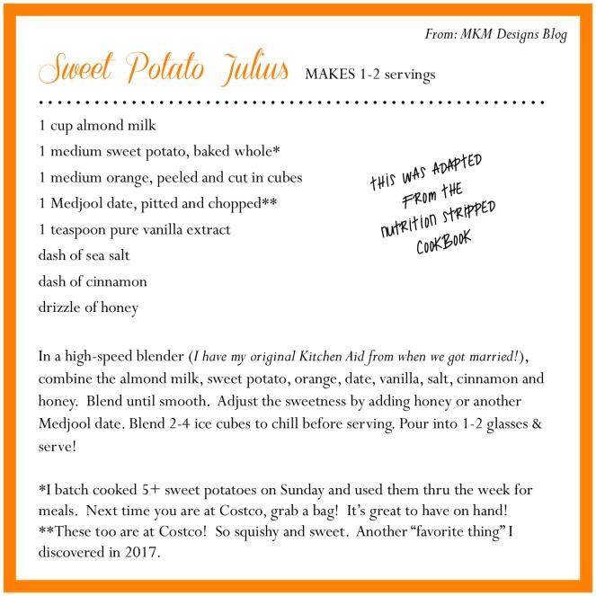 sweet potato julius smoothie